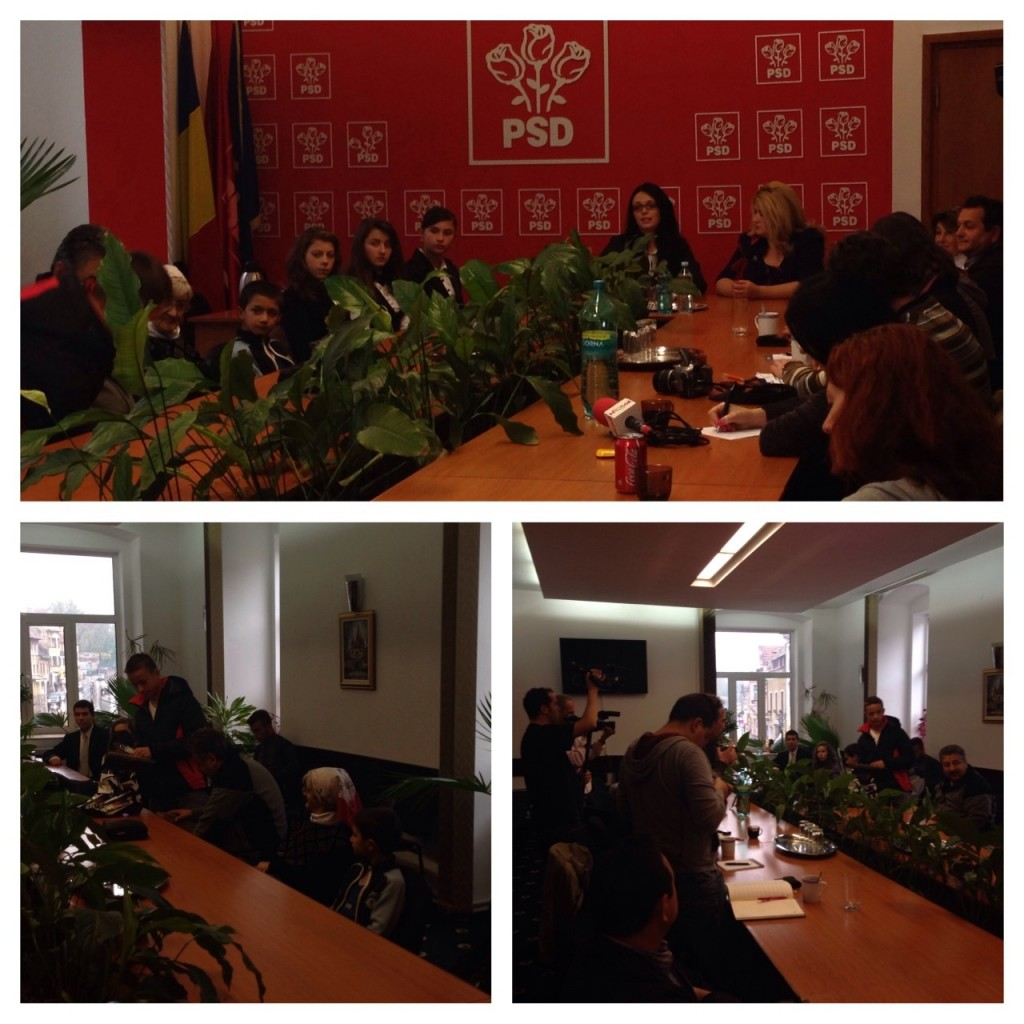 Colaj conferinta de presa 15 octombrie 2013 1024x1024 OFSD Brasov a prezentat in conferinta de presa copii talentati sprijiniti