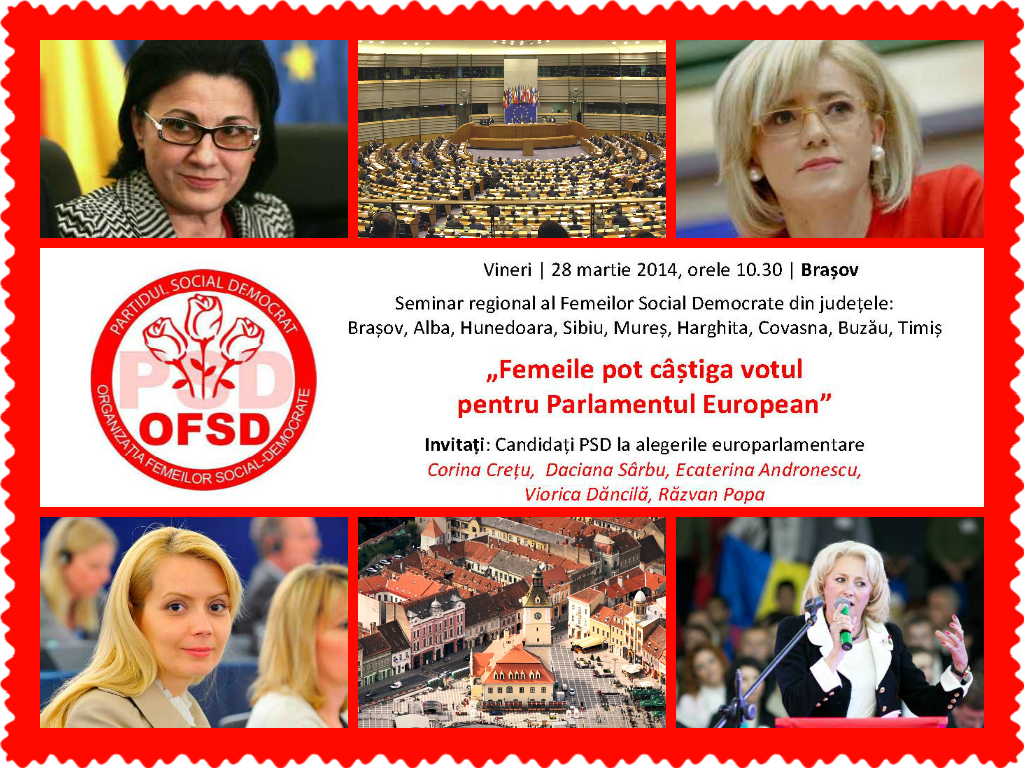 Banner 28 martie fin Invitatie   Reuniune regionala OFSD la Brasov